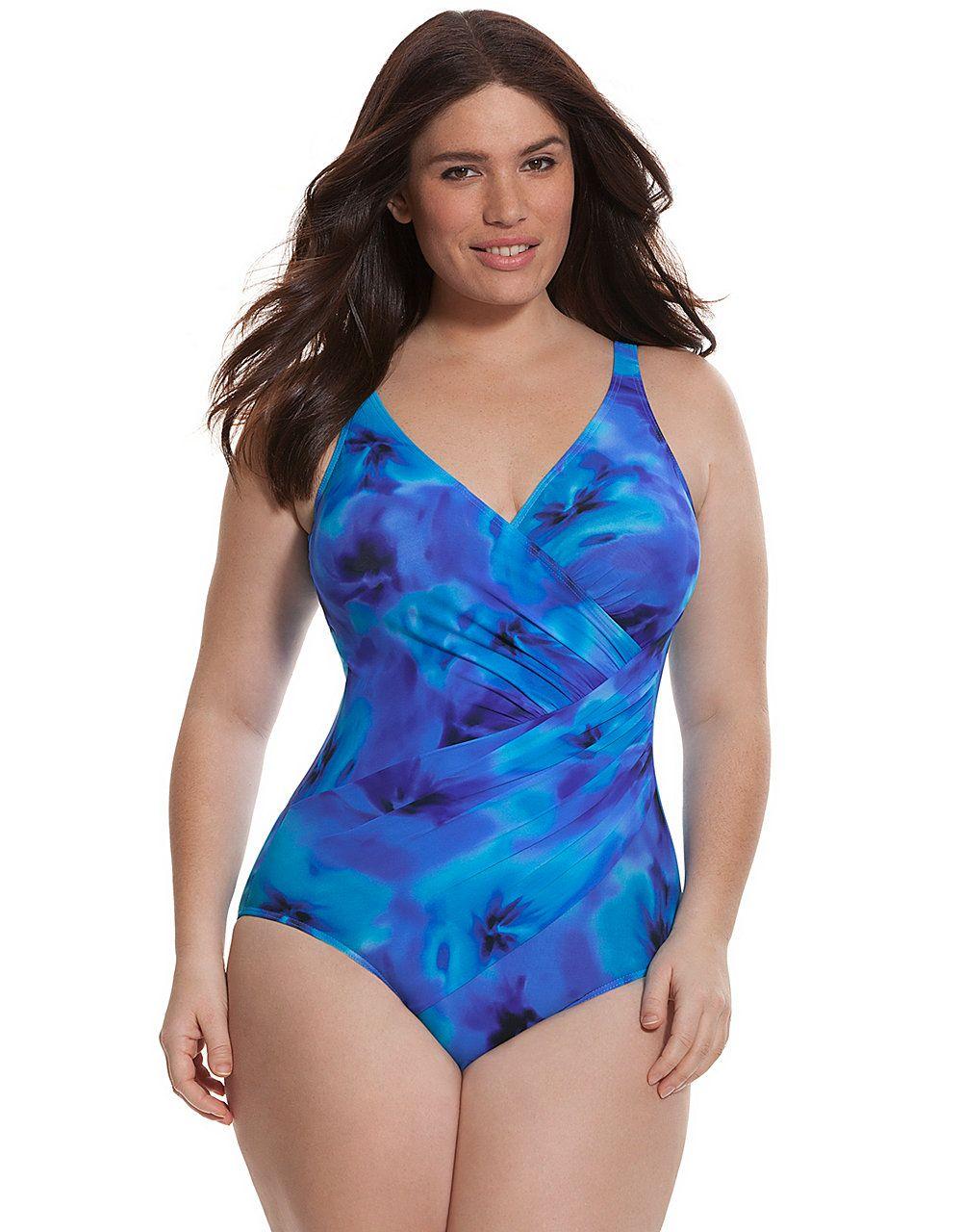 328e14ea2caf7 Oceanus one-piece swim suit by Miraclesuit | Lane Bryant | Clothes ...