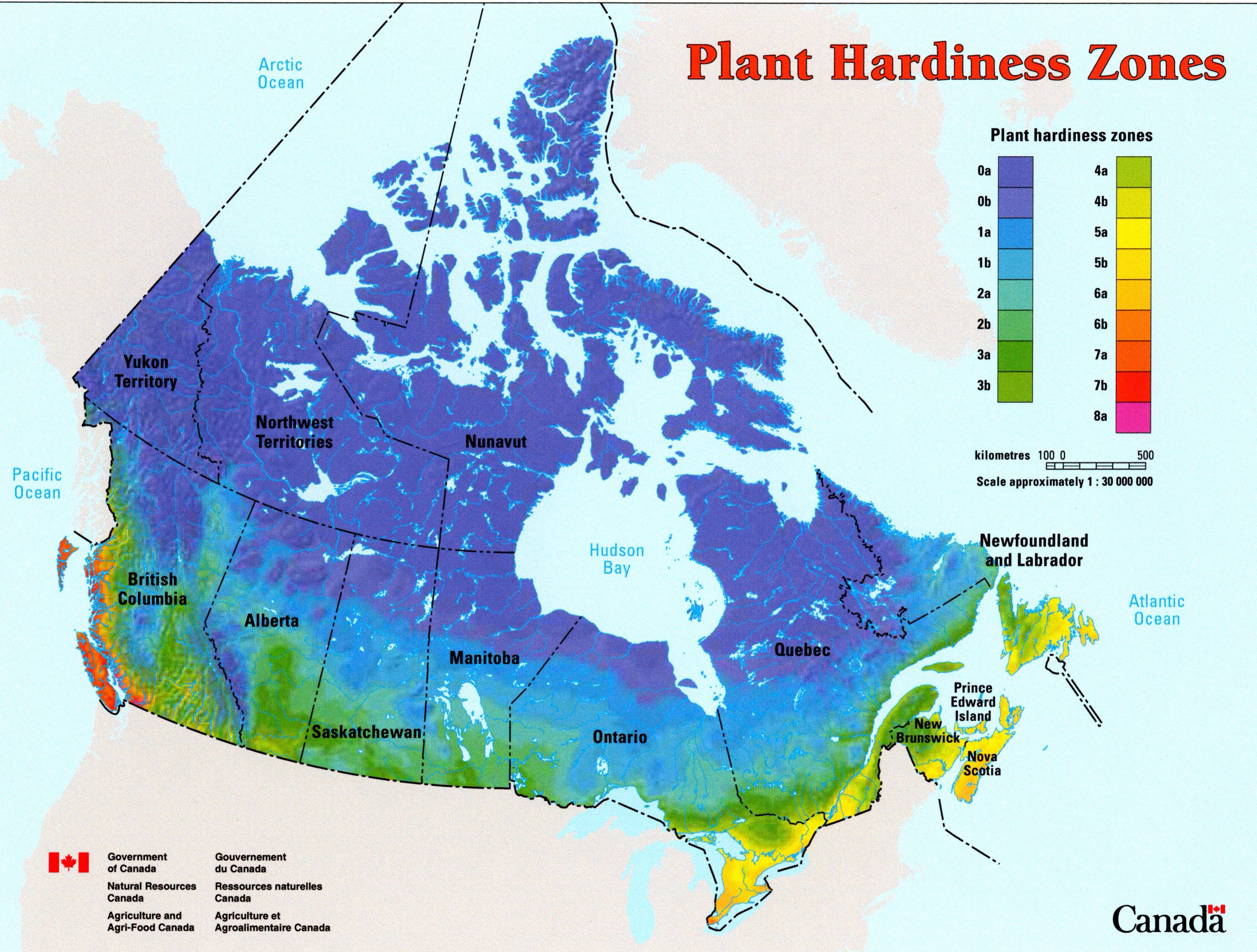 Growing Zones In Canada 0 3 Cold Always Cold Plant Hardiness