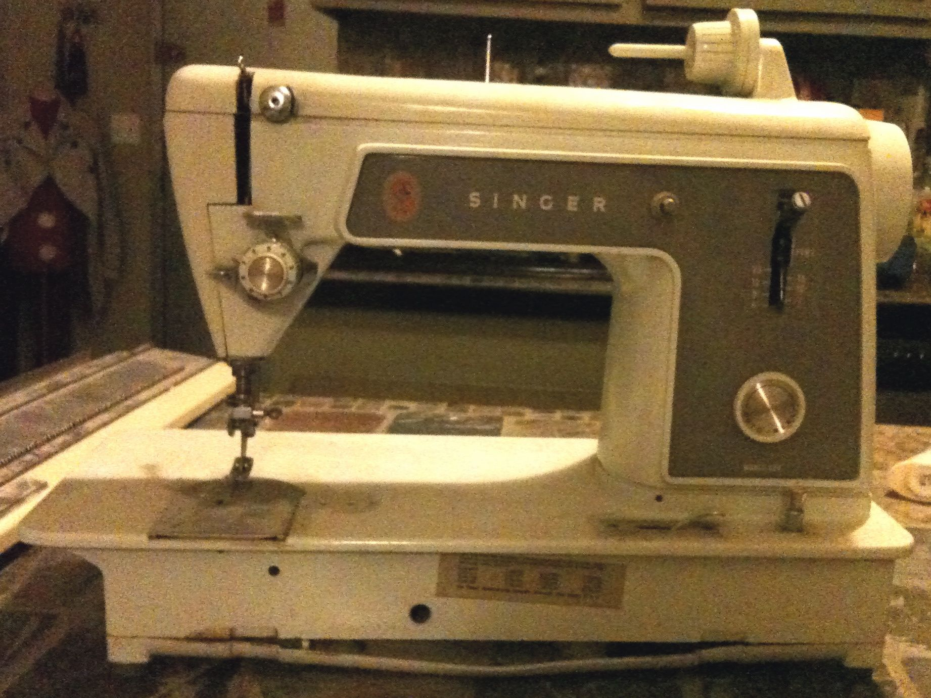 She could sew anything! Most of my Easter dresses were made on an old Singer machine very similar to this!