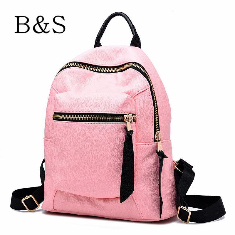 2016 Luxury Black Women Leather Backpack Famous Brand Backpacks ...