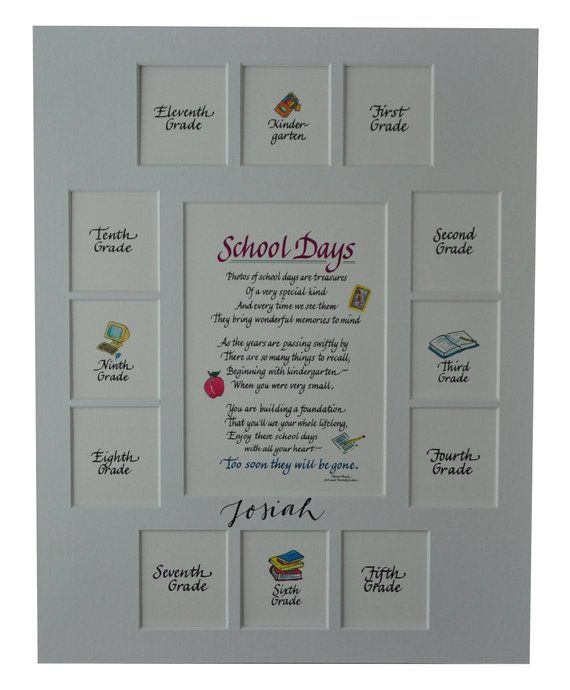 11x14 School Days Picture Mat K 12 13 Openings Frame Not Included
