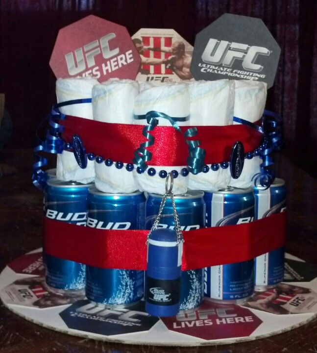 UFC/Diaper party gift | She's crafty! | Pinterest | Diaper parties
