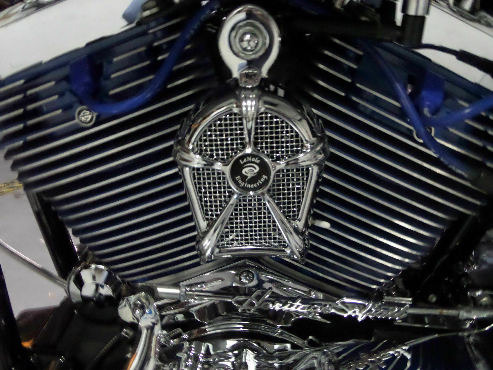 Lenale Engine Cooling Fan Chrome 93 08 Touring Harley New