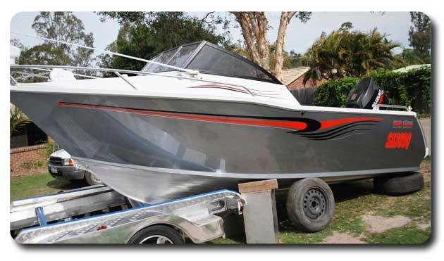 Boat Stripe Graphics - Rip Tide - by www boatnames com au