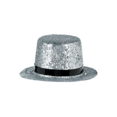 fcb38ac7fecd7 Silver Mini Hollywood Top Hat - Party City