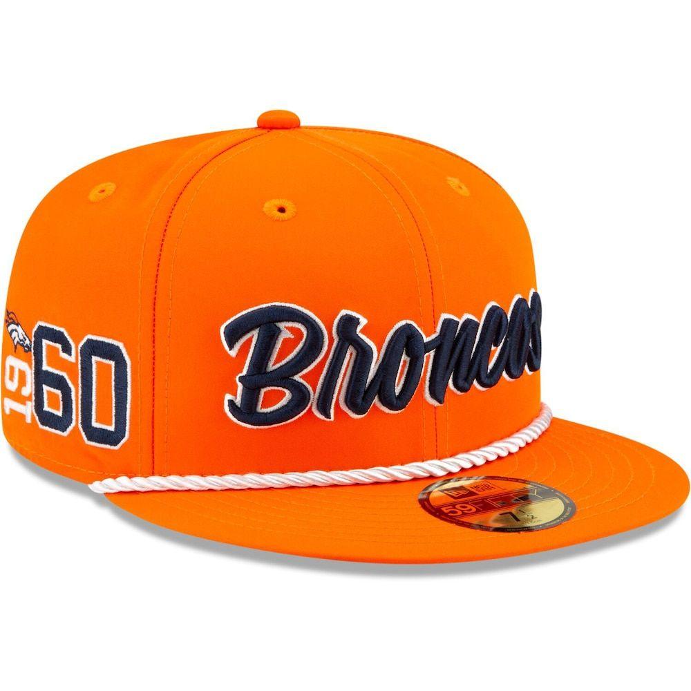 Mens new era orange denver broncos 2019 nfl sideline home