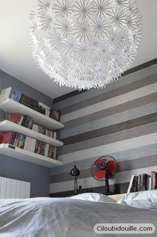 Lambris peint en dégradé de gris Grey Wall Panelling | Master ...