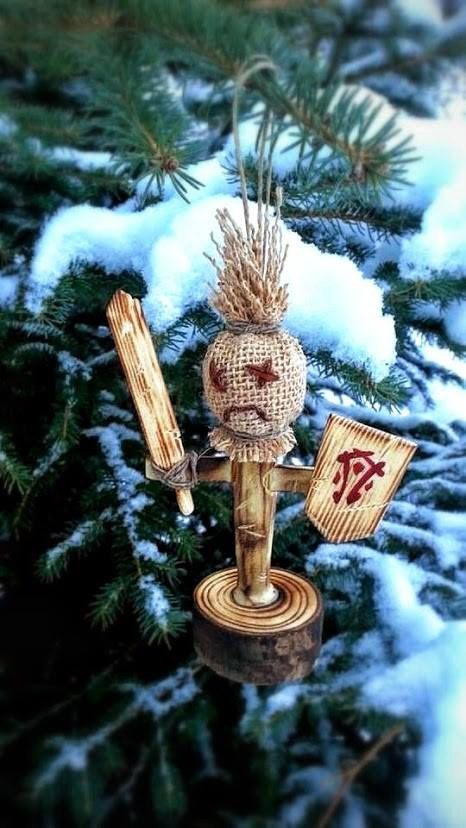 world of warcraft inspired training dummy ornament