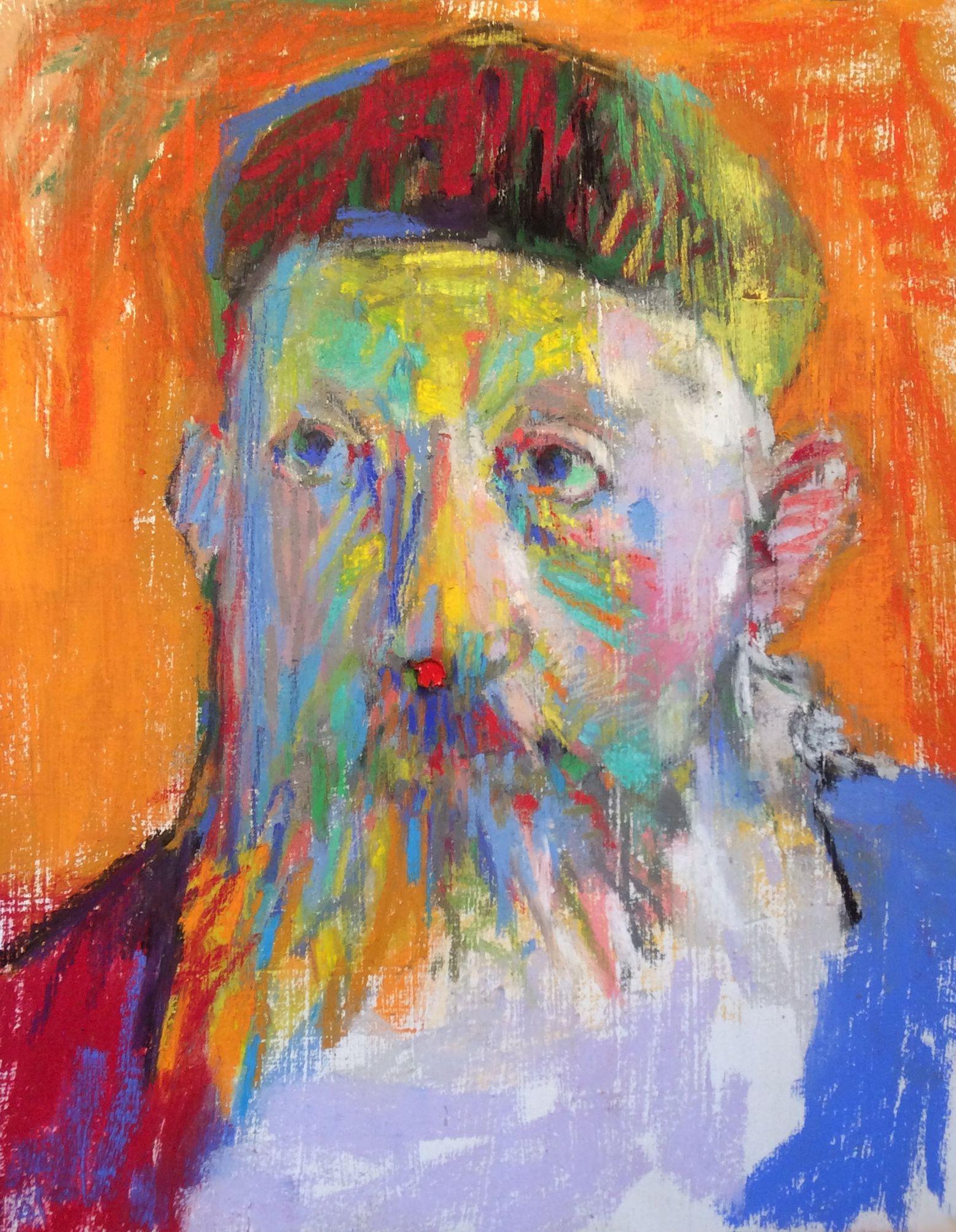 """Interior. 2016. Pastel, Graphite, Dry Ground & Oil. 18"""" x 14."""" Casey Klahn."""