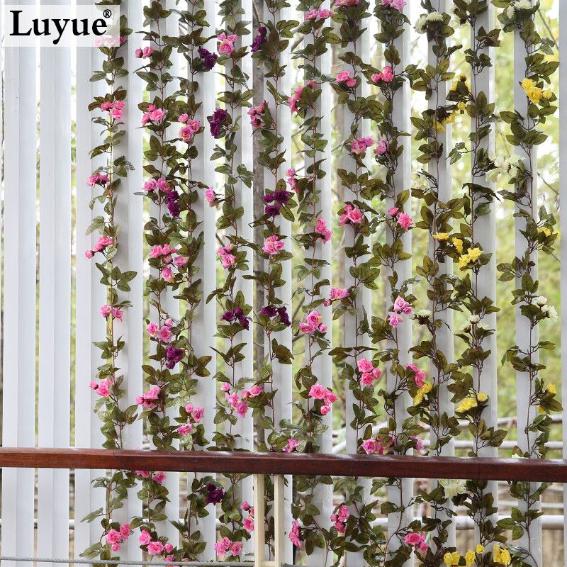 738ft wedding decoration new 2015 artificial fake silk rose flower 738ft wedding decoration new 2015 artificial fake silk rose flower vine hanging garland wedding home junglespirit Gallery
