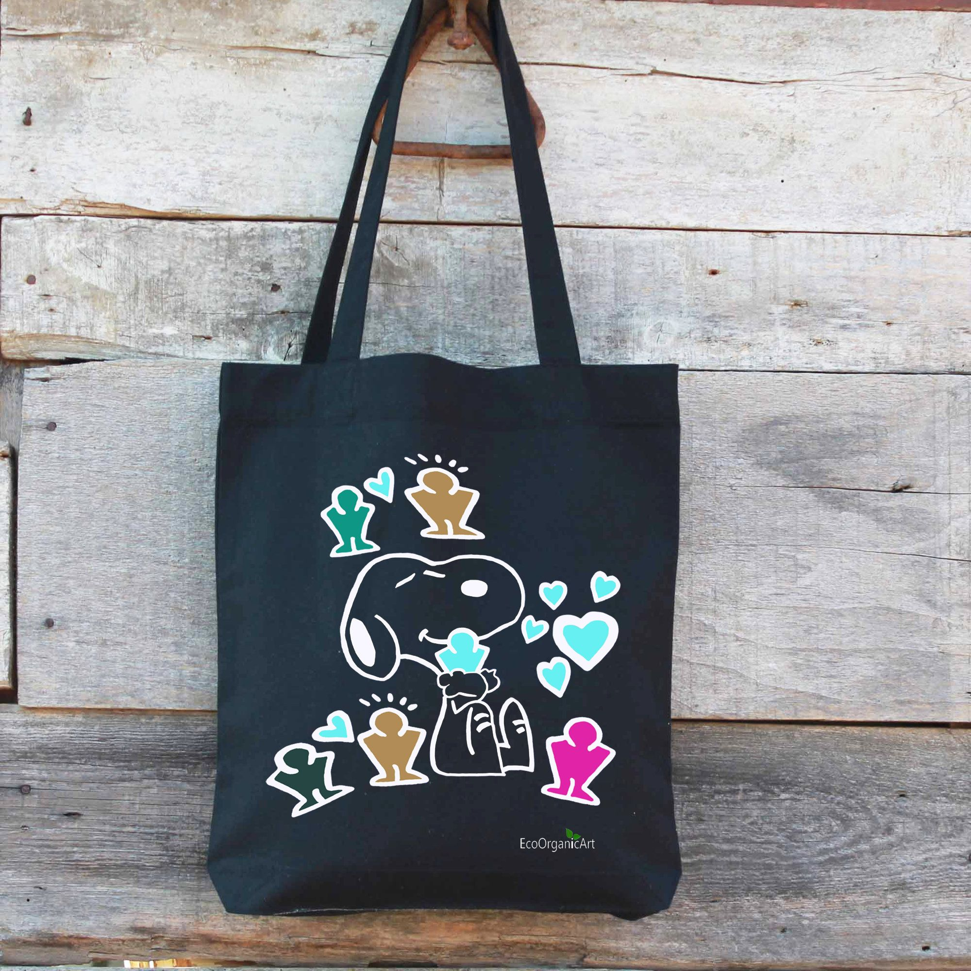 Snoopy in Keith Haring style,Tote bag,Eco friendly in 2020