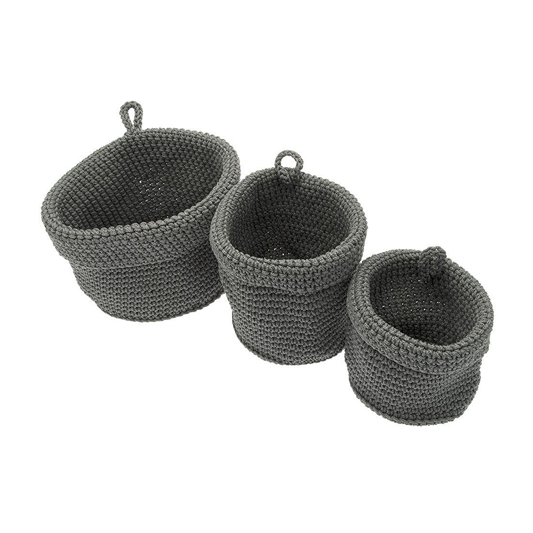frandis 12 12 Badezimmer-Körbe rund Polypropylen geflochten