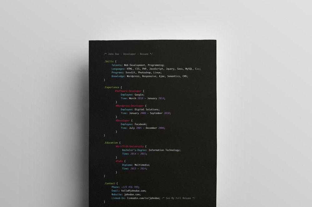 20 Web Developer Resume Template Psd Ms Word Ai Eps Format Graphic Cloud Disenos De Unas Producto