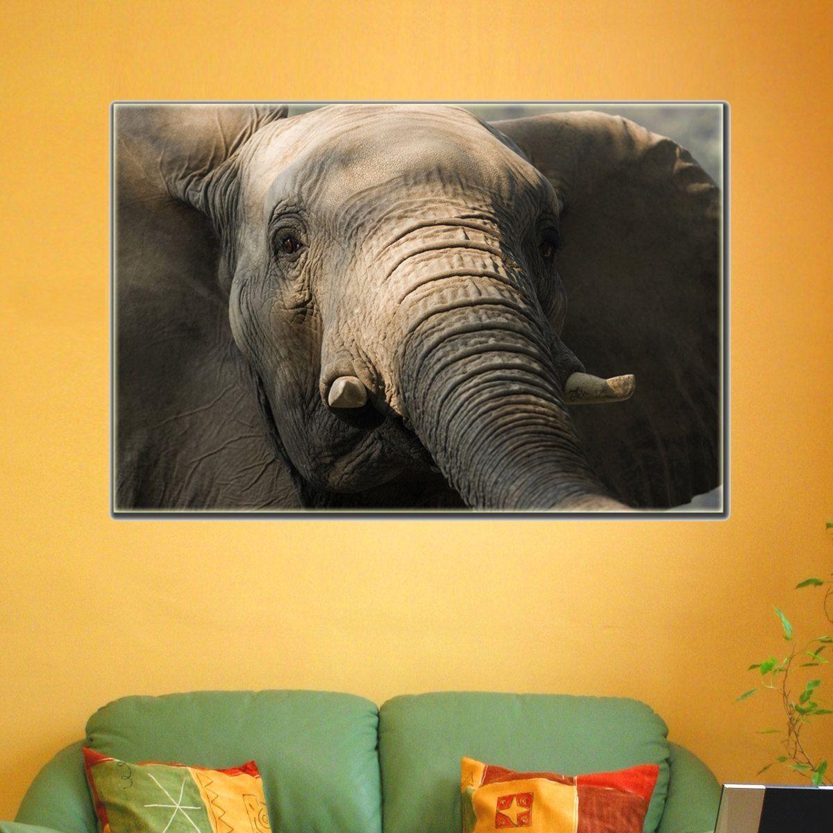 Canvas Prints - African Elephant Canvas Print - Elephant Wall Art ...