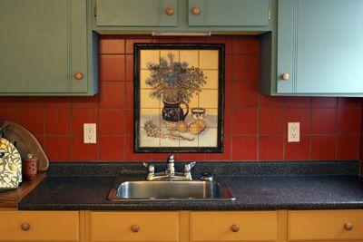 examples of kitchen backsplashes kitchen tile murals bathroom tile rh pinterest com Subway Tile Kitchen Backsplash Tiles for Kitchen Backsplash