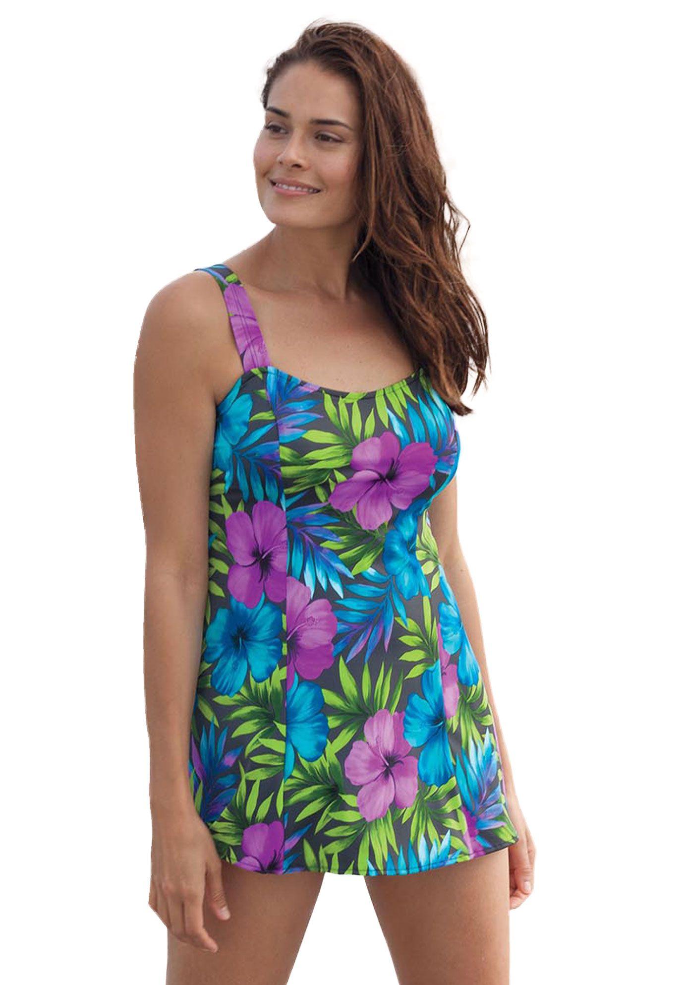 7217ca41e2485 Perfect print swimdress by Swim 365®