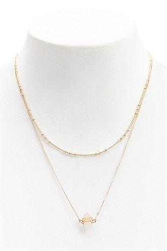 8d8b0a656365 Gemstone Layered Necklace