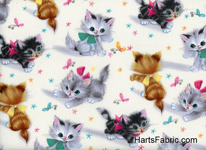 Cute Kitties Cotton Cream