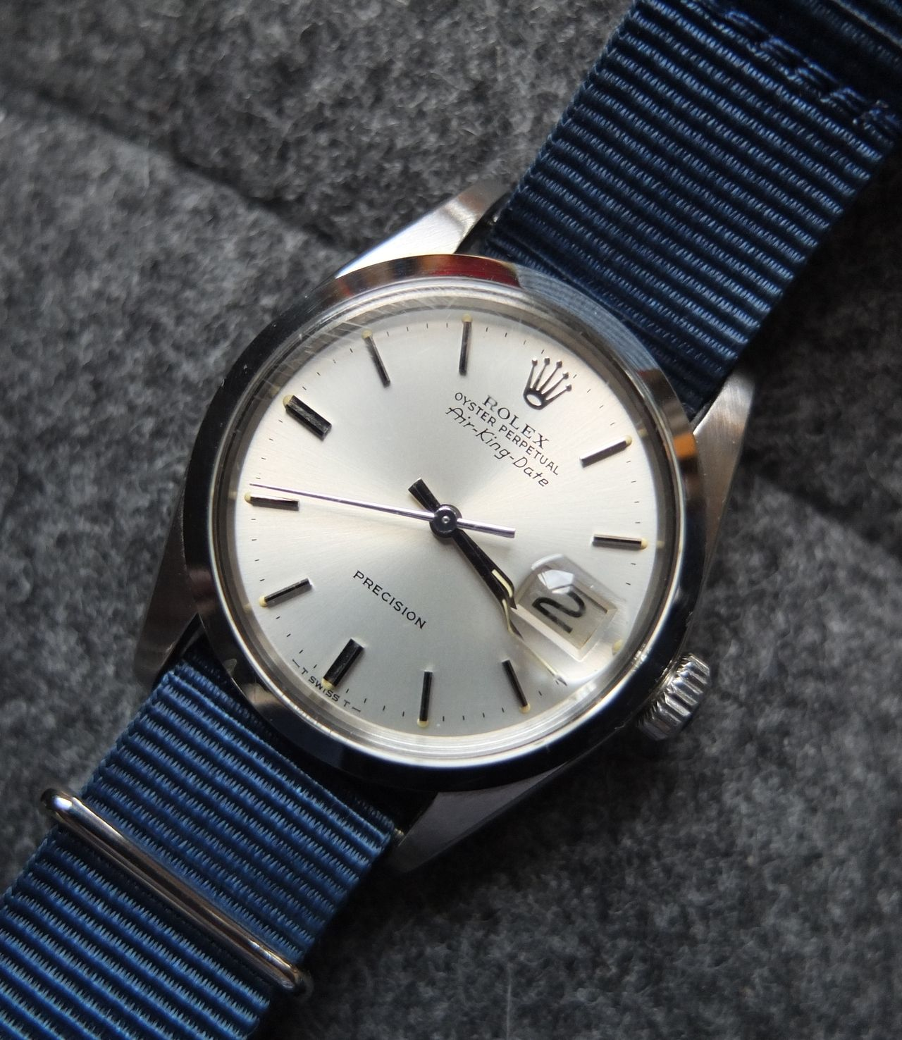 NATO strap, Air King Date... Rare, simple, clean Stylish