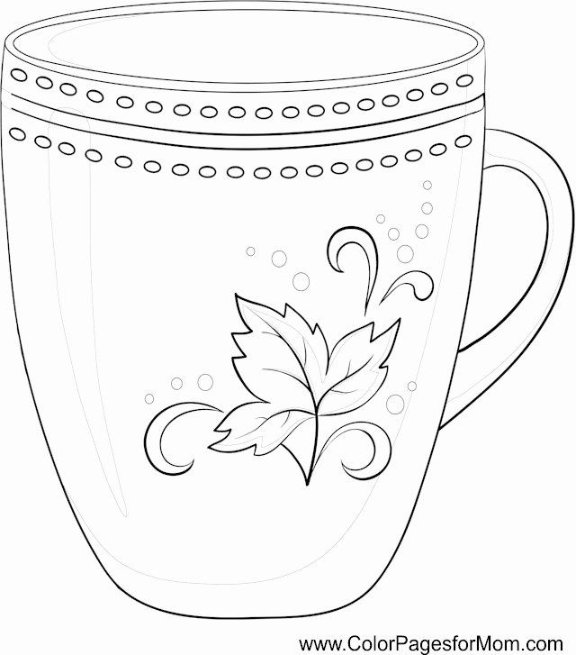 28 Coffee Cup Coloring Page in 2020   Coloring pages ...
