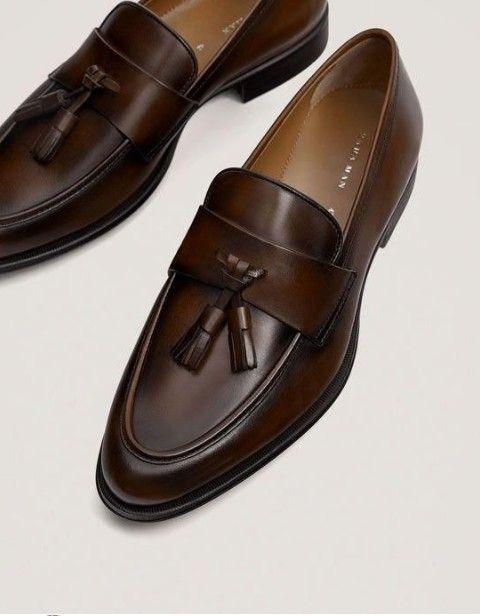 men dress loafer shoes Handmade men brown suede moccasin formal shoe mens