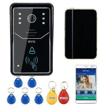 SYWIFI001ID ENNIO Touch Key WiFi Doorbell Wireless Video Door Phone Home Intercom System IR RFID Camera