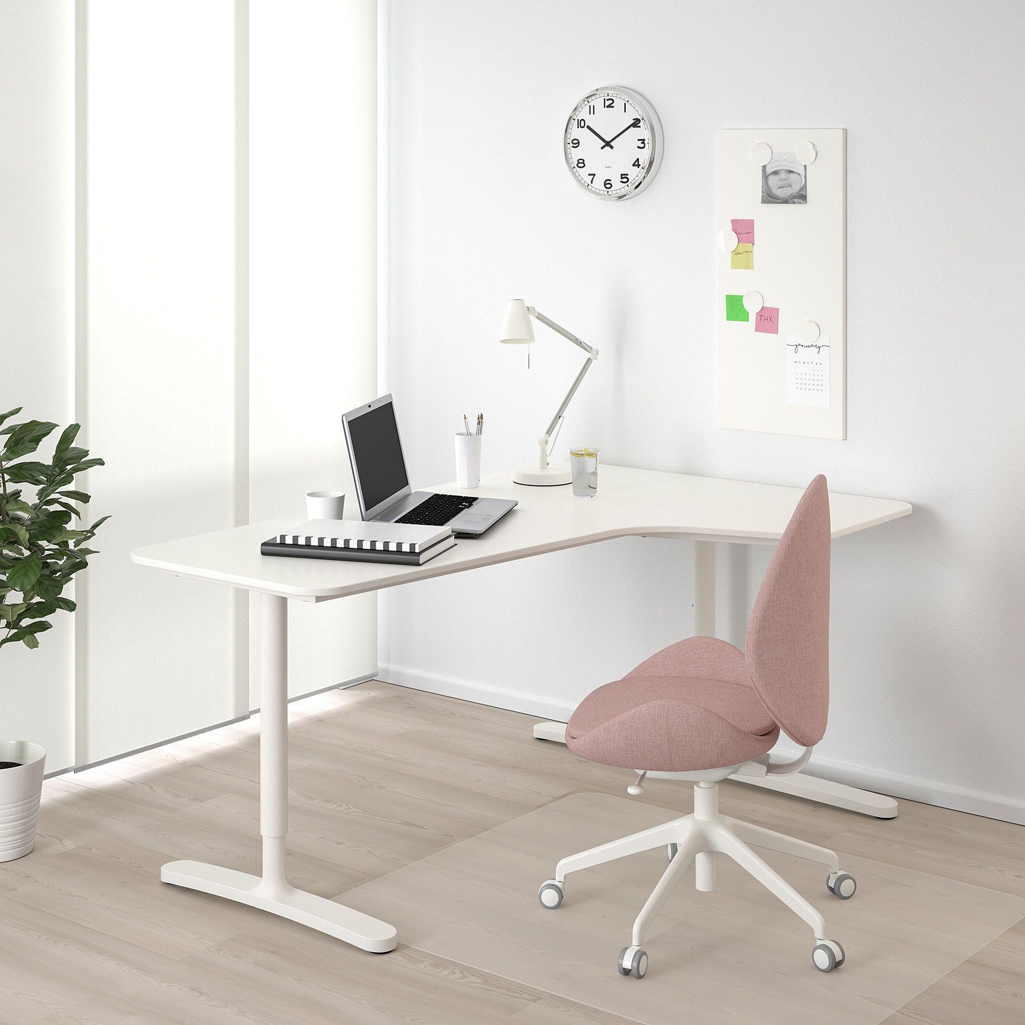 Bekant White Corner Desk Right 160x110 Cm Ikea In 2020 Ikea Bekant Corner Desk Ikea Corner Desk