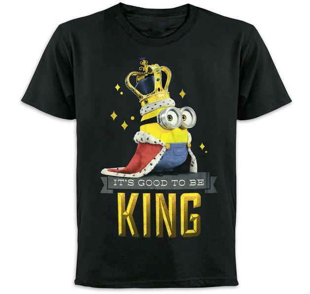 Minions T-Shirt It's Good to Be King (Bob). Hier bei www ...
