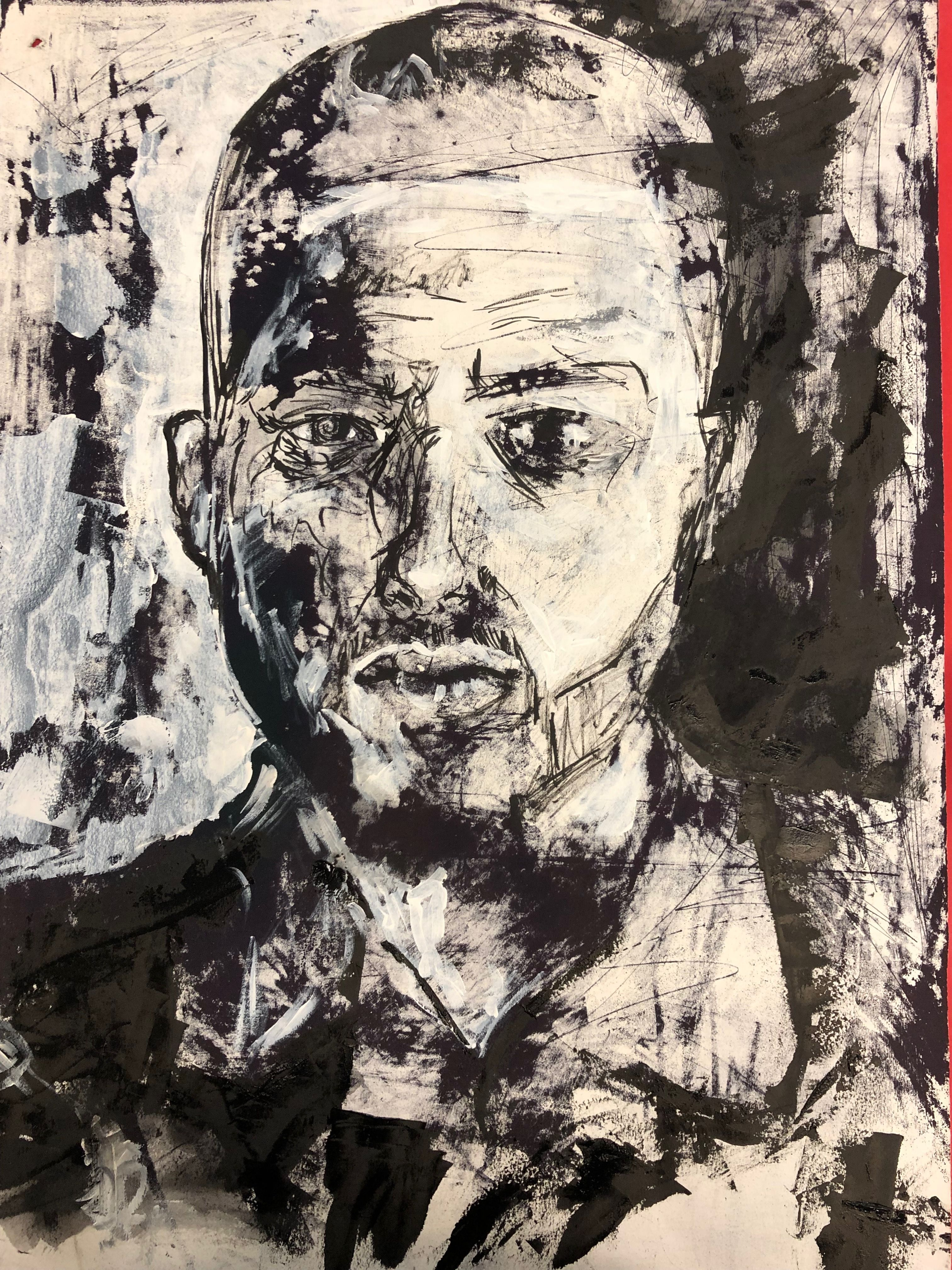 Example Of Expressive Lines Creating A Portrait