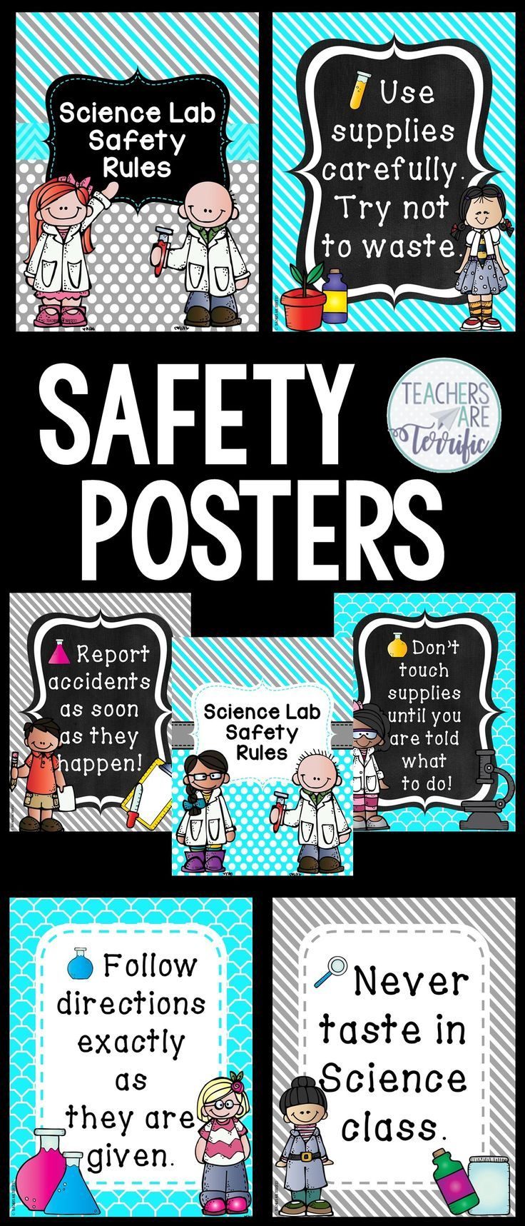 Science and STEM Safety Rules Posters! Includes two