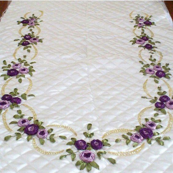 Pin By Meral On Kurdele Nak Pinterest Embroidery Ribbon Work