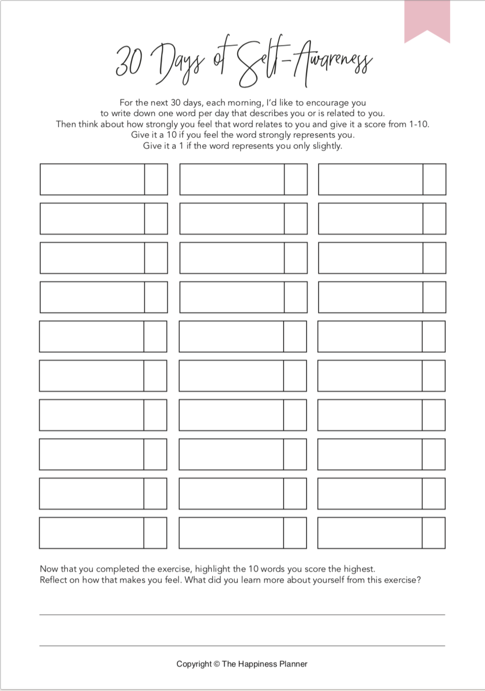 Printables SelfAwareness Therapy worksheets, Self