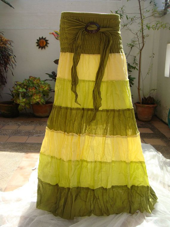 Long Skirt Cotton Ladies Woman Boho Hippie Gypsy by Natural2013, $12.99