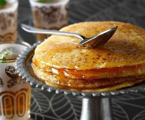 Moroccan Baghrir - SOOO good drizzled with honey and a hot cup of mint tea