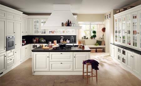 cocina clsica blanca - Cocinas Clasicas Blancas