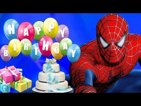 Spiderman Cartoons For Kids Happy Birthday Song Children Nursery