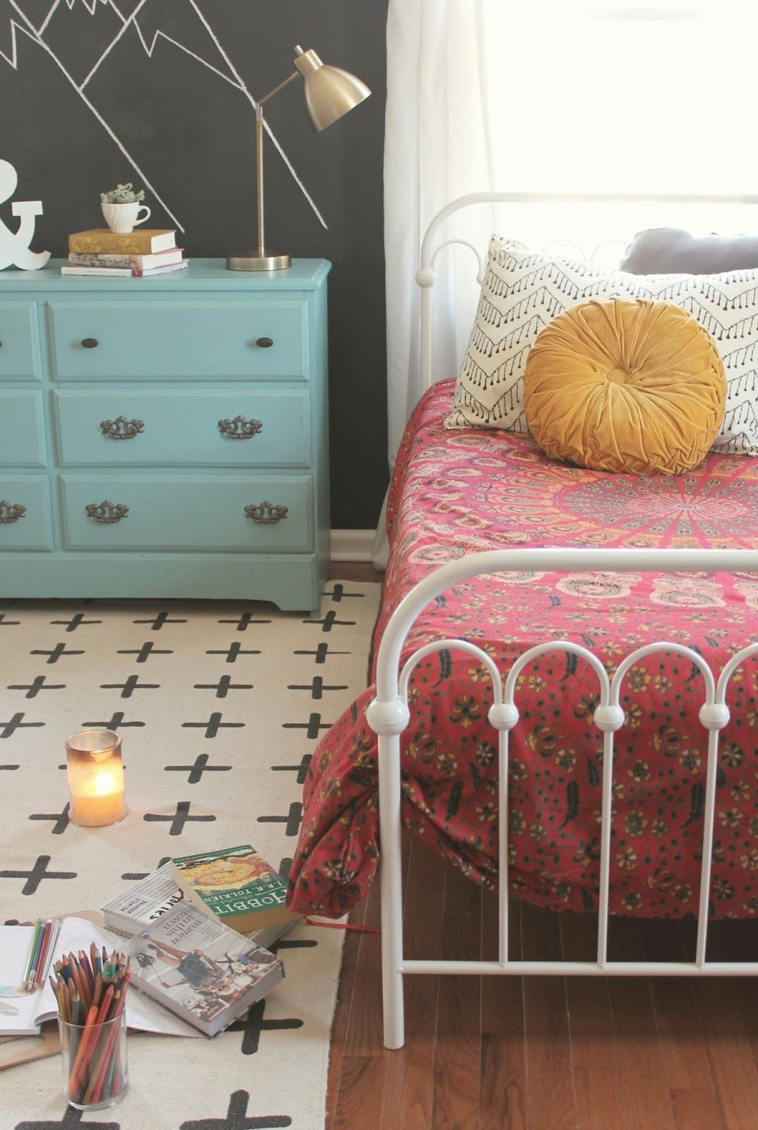 The Little Farm Diary: Teen Girlsu0027 Room Reveal {a Boho Inspired Makeover}