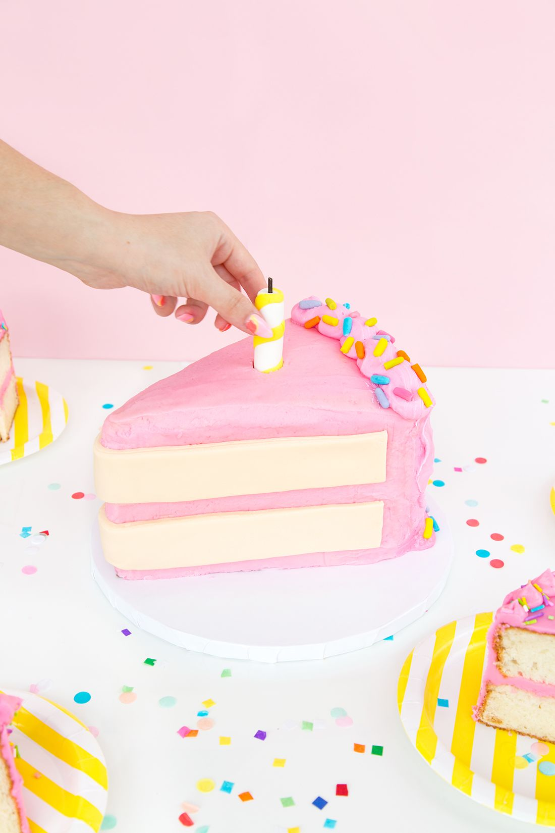Fabulous Giant Cake Slice Cake Aww Sams 2Nd Birthday With Images Personalised Birthday Cards Paralily Jamesorg