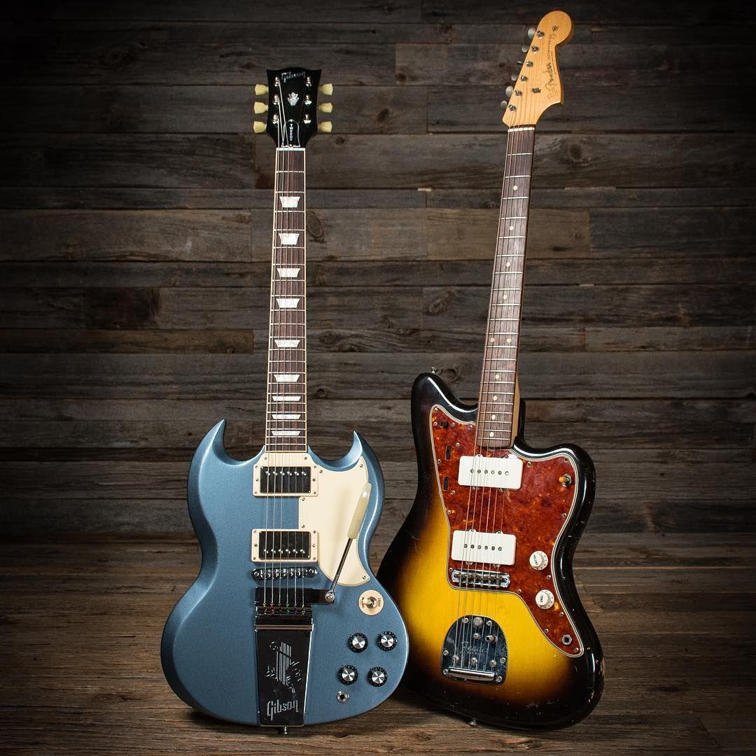 original 1961 Fender Jazzmaster, and Gibson Tweedy SG Prototype
