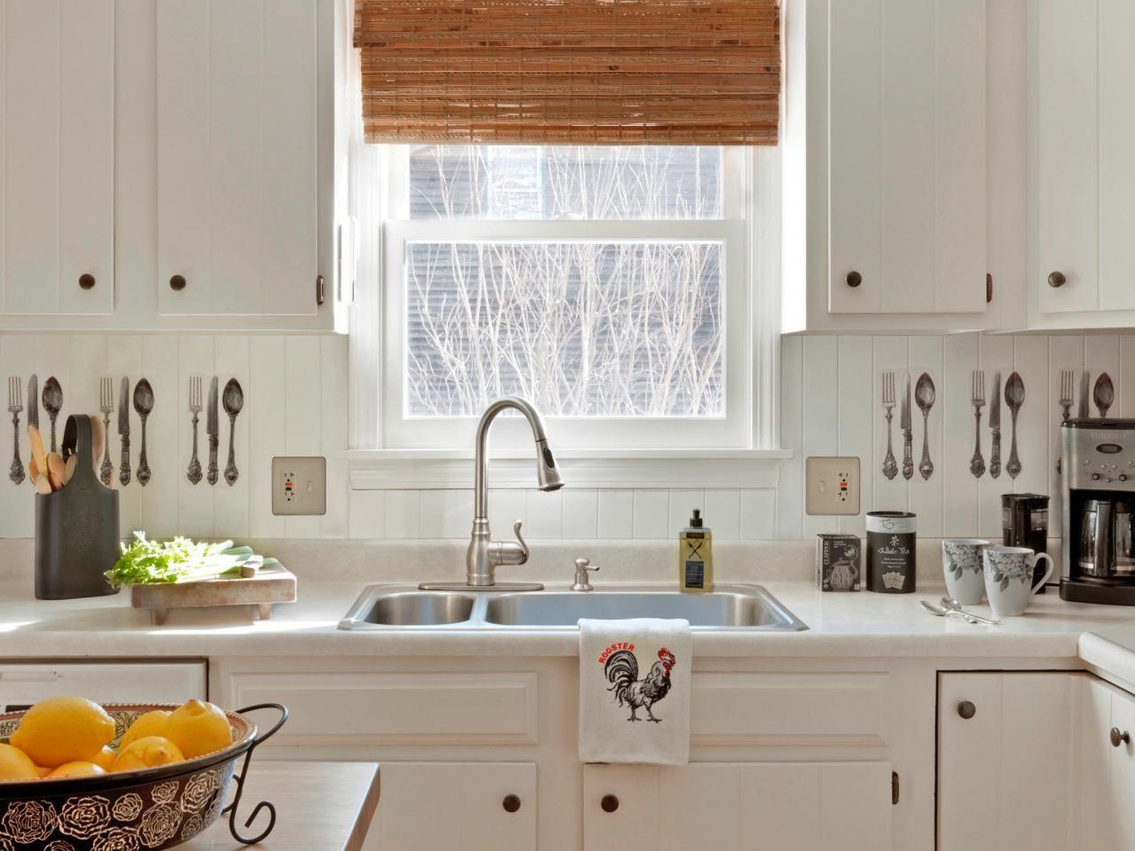Cottage Kitchen Backsplash Ideas Part - 15: How To Make A Beadboard Backsplash With Vintage Artwork. White Cottage  KitchensKitchens ...