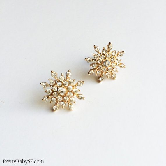 Snowflake Earring Rose Gold Jewelry