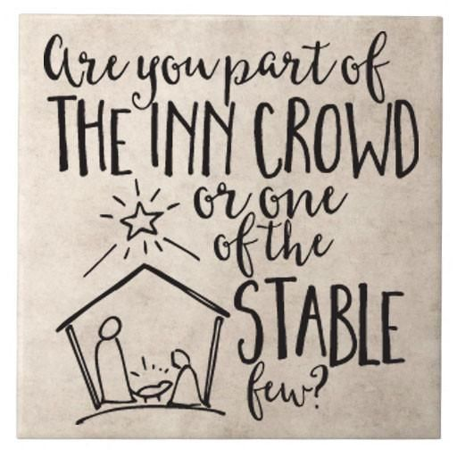 Part of the inn crowd or one of the stable few vinyl decal for tile or crafts craft cricut and silhouette cameo machine