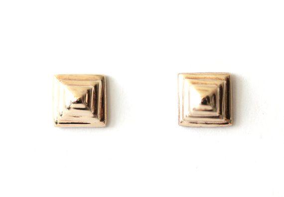 Mayan Earrings - Bronze