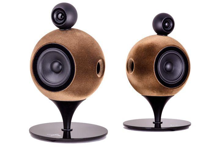 Deluxe Acoustics Spherical Hi Fi Speakers Audio Design Speaker Box Design Diy Bluetooth Speaker
