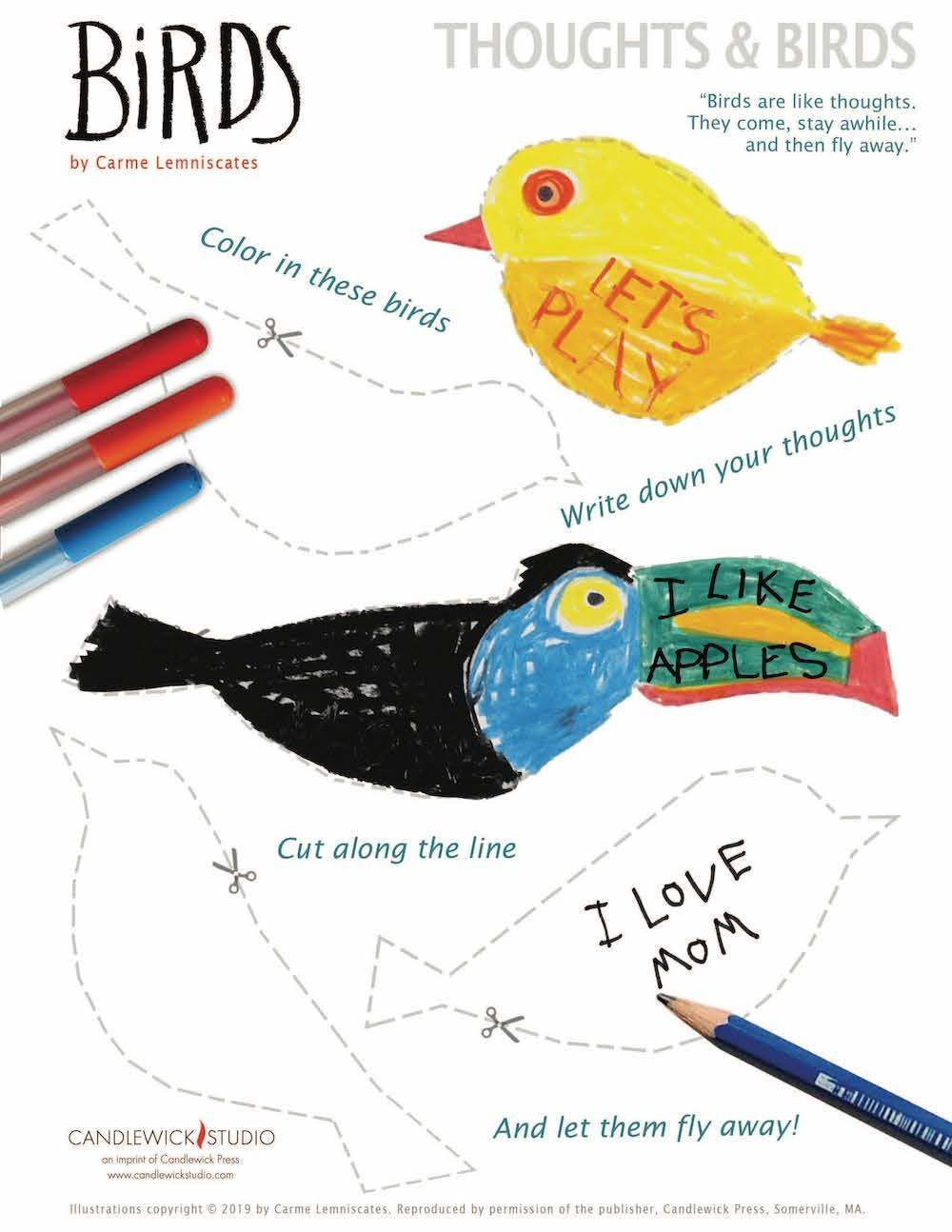 Birds Activity For Kids Free Printable Downloads Art Lessons For Kids Bird Activities Birds Activity For Kids
