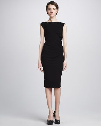 This Diane Von Furstenberg dress with it's cap sleeve and below-the-knee length is perfect at any age -- .