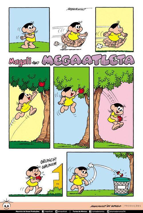 Magali Com Imagens Turma Da Monica Gibi Deposito De Tirinhas
