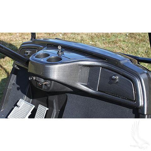 Yamaha Drive Carbon Fiber Custom Golf Cart Dash Kit Wheelz Custom Carts Yamaha Golf Cart Accessories Golf Carts Golf Cart Accessories