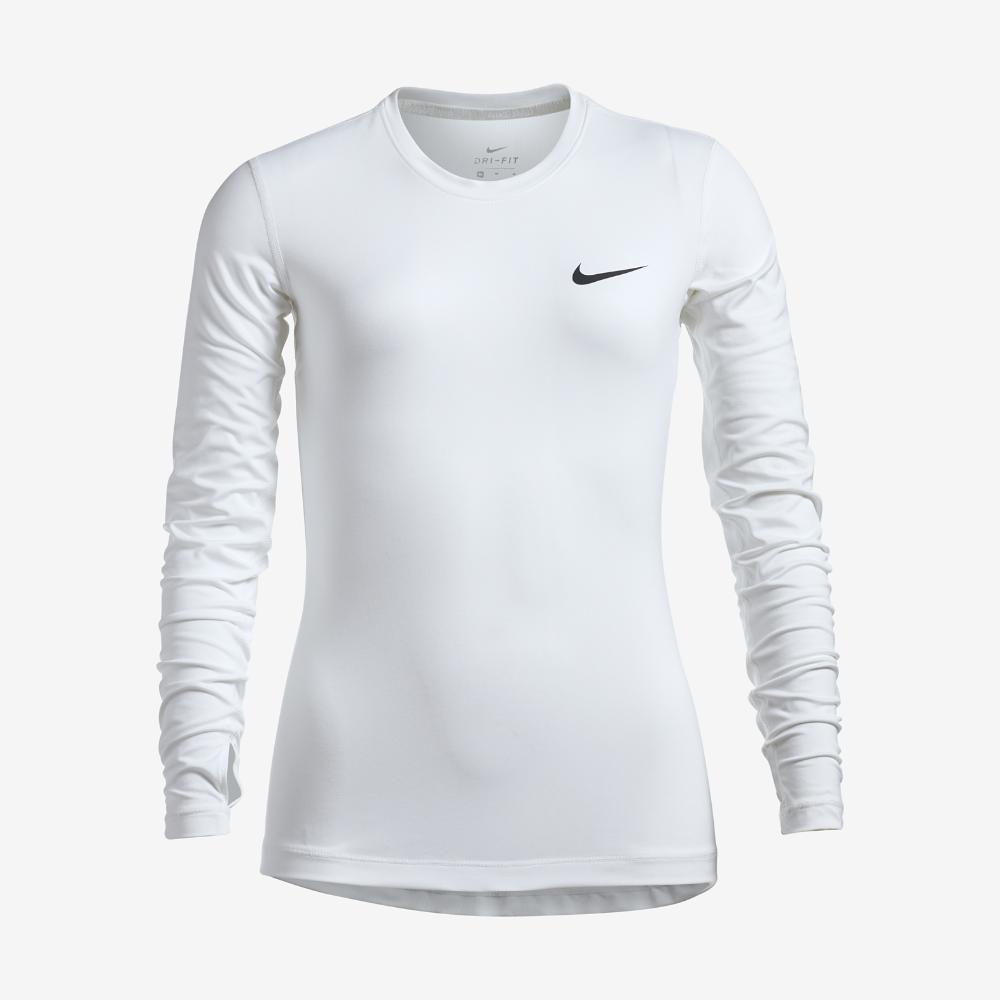 868c6651 Nike Pro Dry Big Kids' (Girls') Long Sleeve Training Top Size Medium (White)