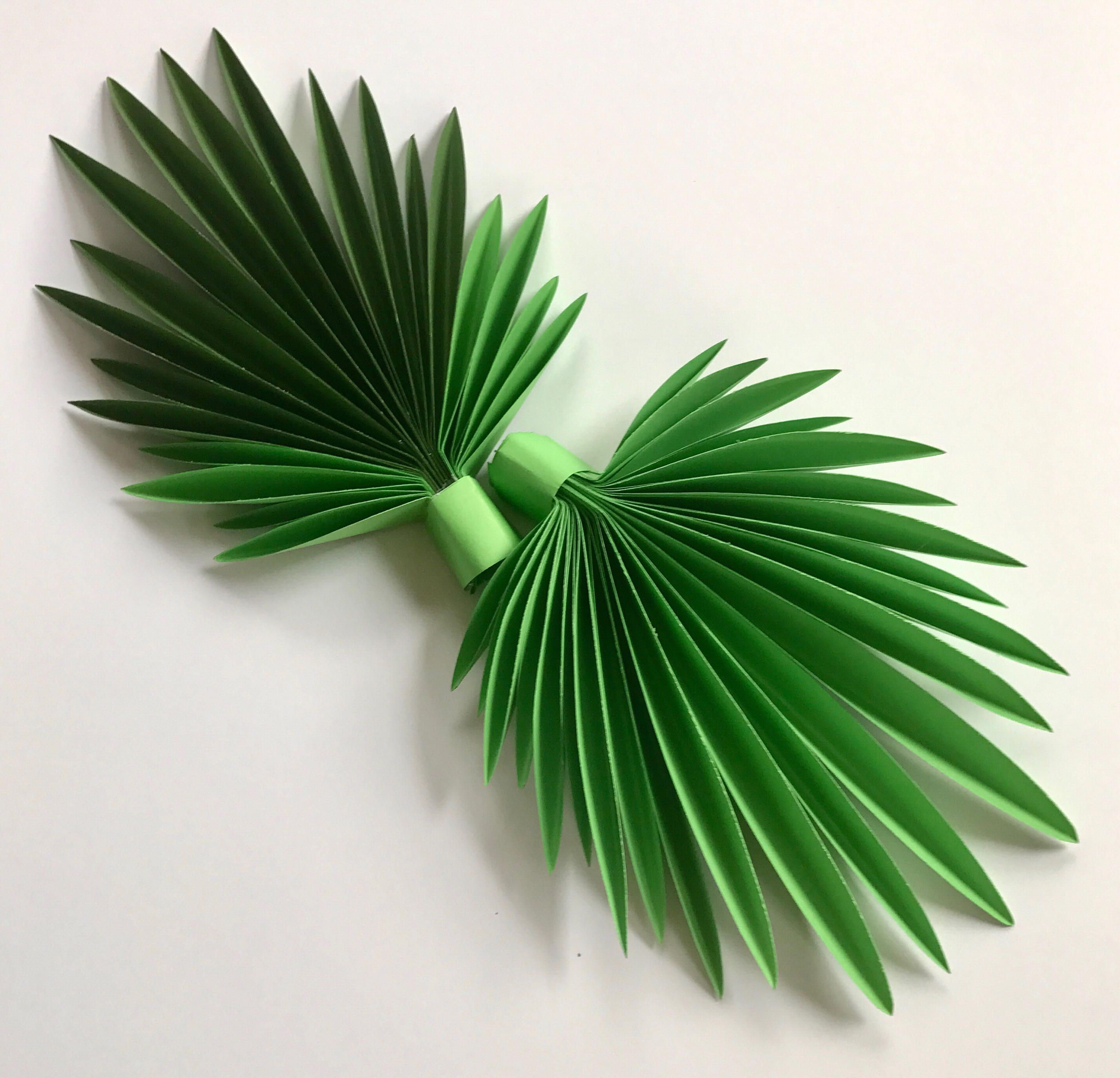 Paper leaves, green leaves, leaves cut outs, Pack of 3 leaves, palm ...
